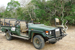 Safari 4wd jeep at private game reserve, South Africa Stock Image