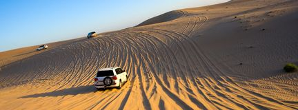 Safari wycieczka turysyczna przez pustyni Fotografia Stock