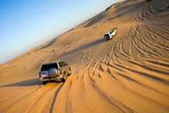 Safari wycieczka turysyczna przez pustyni Zdjęcie Stock