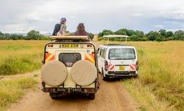 Safari wycieczki turysyczne w Kenja, Afryka Fotografia Stock