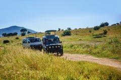 Safari wycieczki turysyczne w Kenja, Afryka Obrazy Royalty Free
