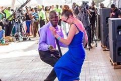 Вентиляторы джазового фестиваля Safaricom Стоковое Фото