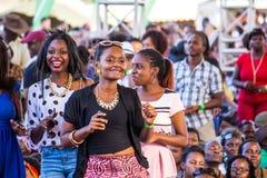 Safaricom Jazz Festival Fans Royaltyfria Foton