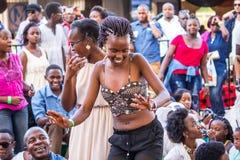 Safaricom Jazz Festival Fans Imagenes de archivo