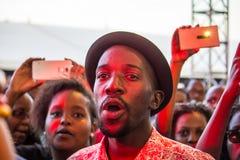 Safaricom Jazz Festival Fans Lizenzfreie Stockbilder
