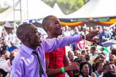 Safaricom Jazz Festival Fans Stock Photo