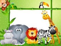 Safaridjurtecknad film Fotografering för Bildbyråer