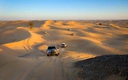 Safarireis door woestijn stock foto's