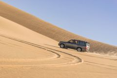 Safarireis in Siwa-woestijn, Egypte royalty-vrije stock foto