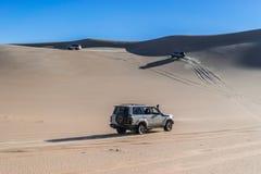 Safarireis in Siwa-woestijn, Egypte stock afbeeldingen