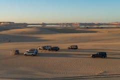 Safarireis in Siwa-woestijn, Egypte stock afbeelding