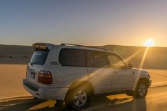 Safarireise in Siwa-Wüste, Ägypten lizenzfreies stockfoto