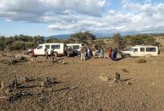 Safaris cars Royalty Free Stock Image