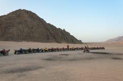 Safaris de ATV Excursões em Egito Fotos de Stock Royalty Free