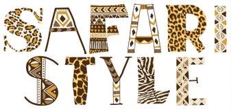 Safaristijl Royalty-vrije Stock Foto's