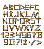 safaristil för alfabet 3d Royaltyfria Foton