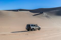 Safaritur i den Siwa öknen, Egypten arkivbilder