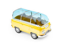 Safarivan glass dak stock illustratie