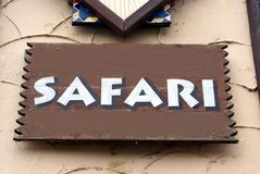 Safarizeichen Stockfoto