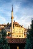 Safarnbolu - μουσουλμανικό τέμενος στον ήλιο ρύθμισης, Τουρκία Στοκ Φωτογραφία