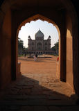 Safdarjung's Tomb. Is a garden tomb a marble mausoleum in Delhi, India. It was built in 1754 in the style of late Mughal architecture Royalty Free Stock Photo