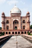 Safdarjung's Tomb is a garden tomb in a marble mausoleum in Delhi, India Stock Images