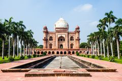 Safdarjung's Tomb is a garden tomb in a marble mausoleum in Delhi, India Royalty Free Stock Images