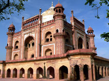 Safdarjung tomb,delhi,india. One of the last examples of moghul architecture in india.built in 1953 by the  son of  second nawab of oudh Stock Photography