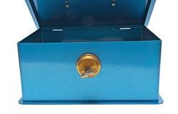 Safe. Open safe on a white background Royalty Free Stock Photo