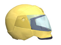 Safe. Computer image, safety helmet 3D, isolated white background Stock Image