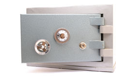 Safe. Steel Safe Home-Bank opened  on white Royalty Free Stock Image