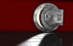 Safe. Metal safe. red room. security Royalty Free Stock Photo