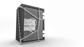 Safe. Three-dimensional model of the steel safe with a coded lock Royalty Free Stock Photos