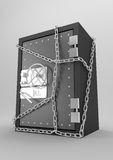 Safe. Three-dimensional model of the steel safe with a coded lock Royalty Free Stock Photo