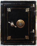 Safe. Front door of old vintage safe, 19 century Royalty Free Stock Images