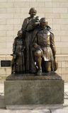 Safe Arrival Monument in Hartford Connecticut. Sculpture in Tower Square Hartford Connecticut commemorating the first travelers to Hartford in 1636 Royalty Free Stock Photo