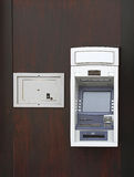 Safe and ATM. Night Safe Box And Automated Teller Machine Royalty Free Stock Photo