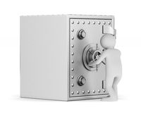 Safe auf weißem Hintergrund Getrenntes 3D Lizenzfreie Stockfotos
