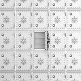 Safe auf weißem Hintergrund Getrenntes 3D Lizenzfreies Stockbild