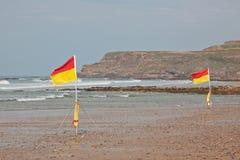 Safe Bathing Flags Stock Image