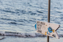 safe beach sign royalty free stock photography