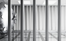 Safe Behind Bars Royalty Free Stock Photo
