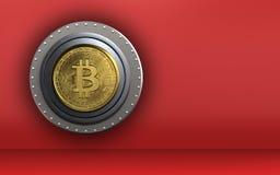 Safe bitcoin des freien Raumes 3d Lizenzfreies Stockbild