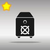Safe black Icon button logo symbol concept Stock Images