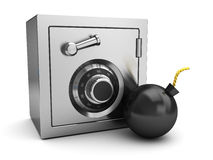 Safe and bomb Royalty Free Stock Image