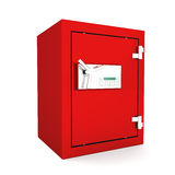 Safe box. With digital lock. 3d image Stock Photography
