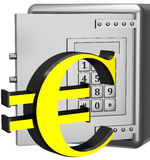 Safe box with euro sign Stock Photography