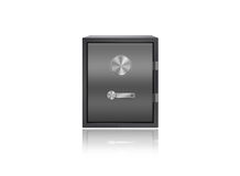 Safe box isolated on white Royalty Free Stock Image