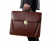 Safe Briefcase. Briefcase in Hand of Businessman royalty free stock images
