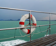 Safe buoy. Ring on the deck of the ship royalty free stock photo
